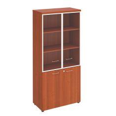 Шкаф для документов со стеклянными прозрачными дверьми в рамке