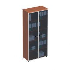 Шкаф для документов со стеклянными высокими дверьми в рамке