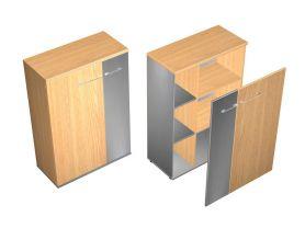 Шкаф комбинированный средний с узкой дверью