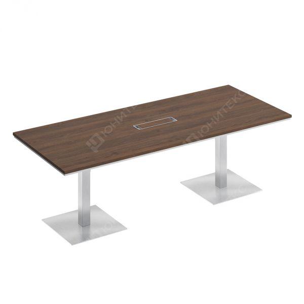 Стол для переговоров на квадратных опорах-колоннах
