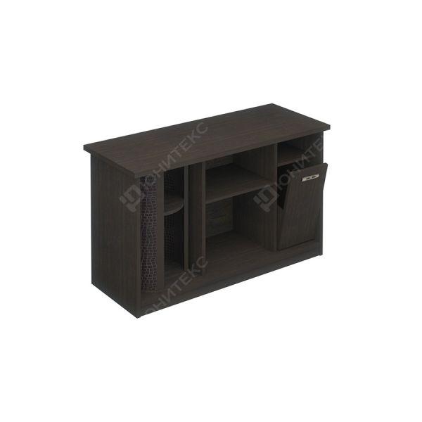 Стол приставной левый с баром и урной для стола КМ-06587