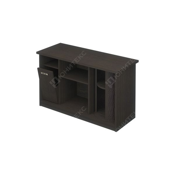 Стол приставной правый с баром и урной для стола КМ-06587
