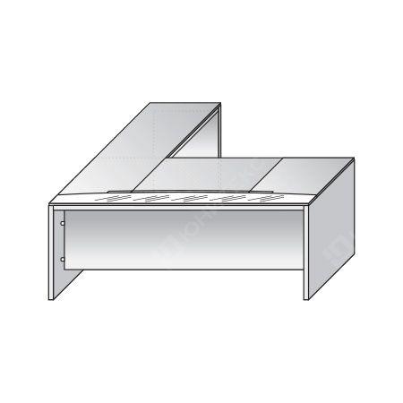 Письменный стол со вставкой из стекла и боковой правой приставкой