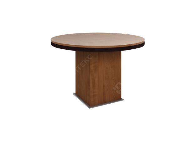 Круглый переговорный стол на деревянной опоре