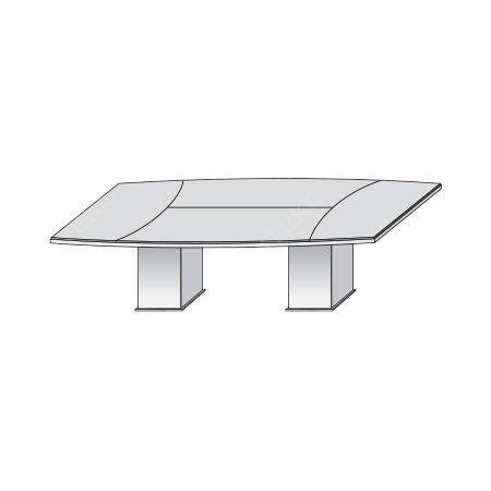 Переговорный стол на деревянных опорах