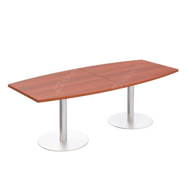 Стол для переговоров круглый на опорах-колоннах