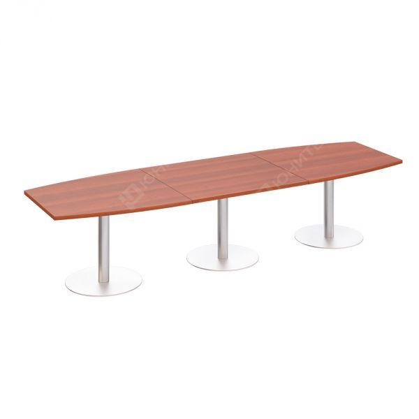 Стол для переговоров на опорах-колоннах