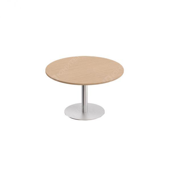 Стол для переговоров круглый МЕ 141  на опоре-колонне