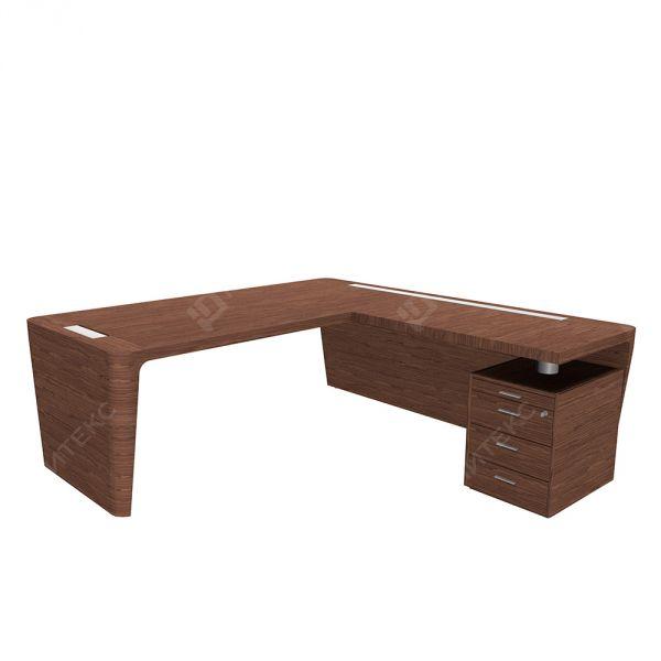 Кабинетный стол с приставкой