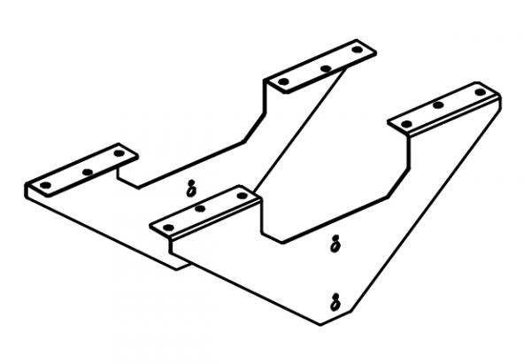 Кронштейн-усилитель рабочей станции (к-т 2 шт.)