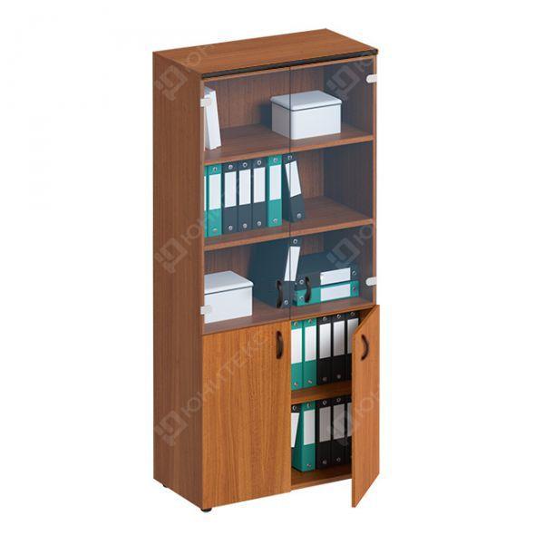 Шкаф для документов со стеклянными прозрачными дверями