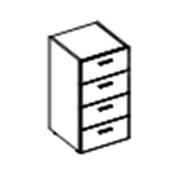 Низкий шкаф с 4-мя ящиками