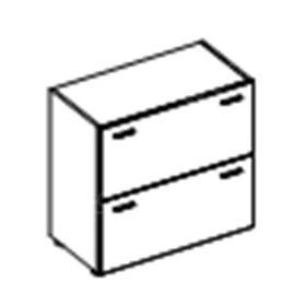 Низкий широкий шкаф с выдвижными ящиками