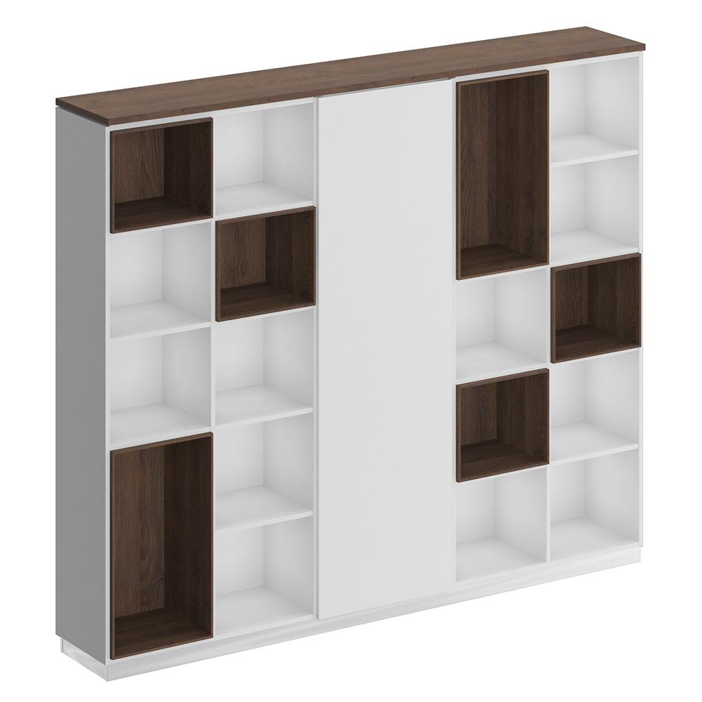 Шкаф комбинированный (открытый - одежда узкий - открытый)