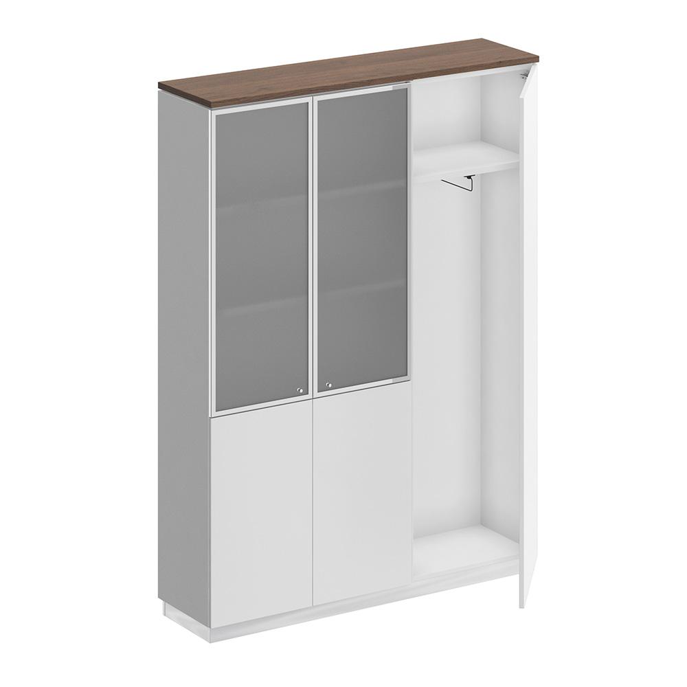 Шкаф комбинированный (документы со стеклом - одежда узкий)