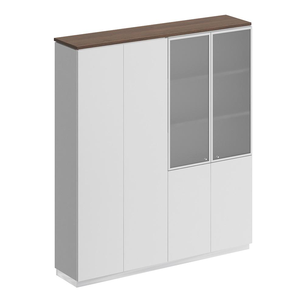 Шкаф комбинированный (закрытый - документы со стеклом)