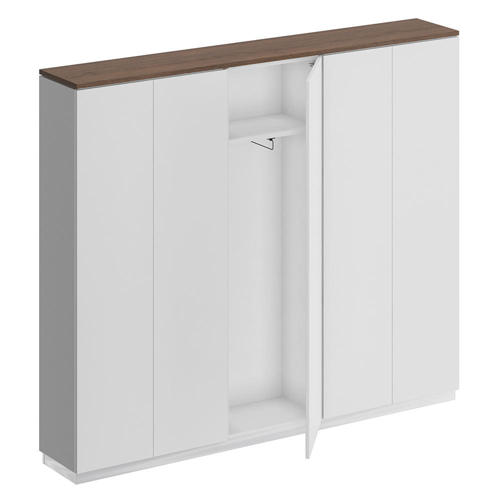 Шкаф комбинированный (закрытый - одежда узкий - закрытый)