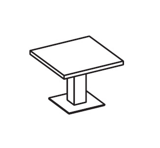 Стол переговорный квадратный