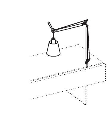 Лампа настольная (алюминий, матовый серый )