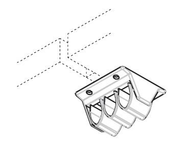 Горизонтальный кабель-канал, цвет ржавчины