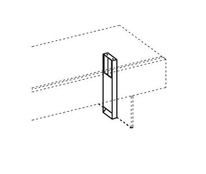 Вертикальный кабель-канал для стола руководителя, цвет ржавчины