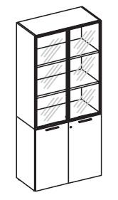 Шкаф комбинированный высокий широкий