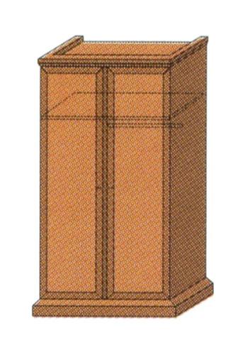 Шкаф для одежды 2-створчатый с антрессолью и штангой для вешалок