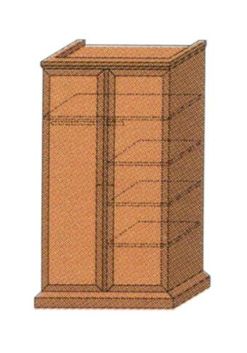 Шкаф для одежды 2-створчатый с антрессолью, полками и штангой для вешалок