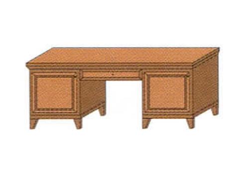 Стол письменный 2-х тумбовый с тумбой для мини-бара