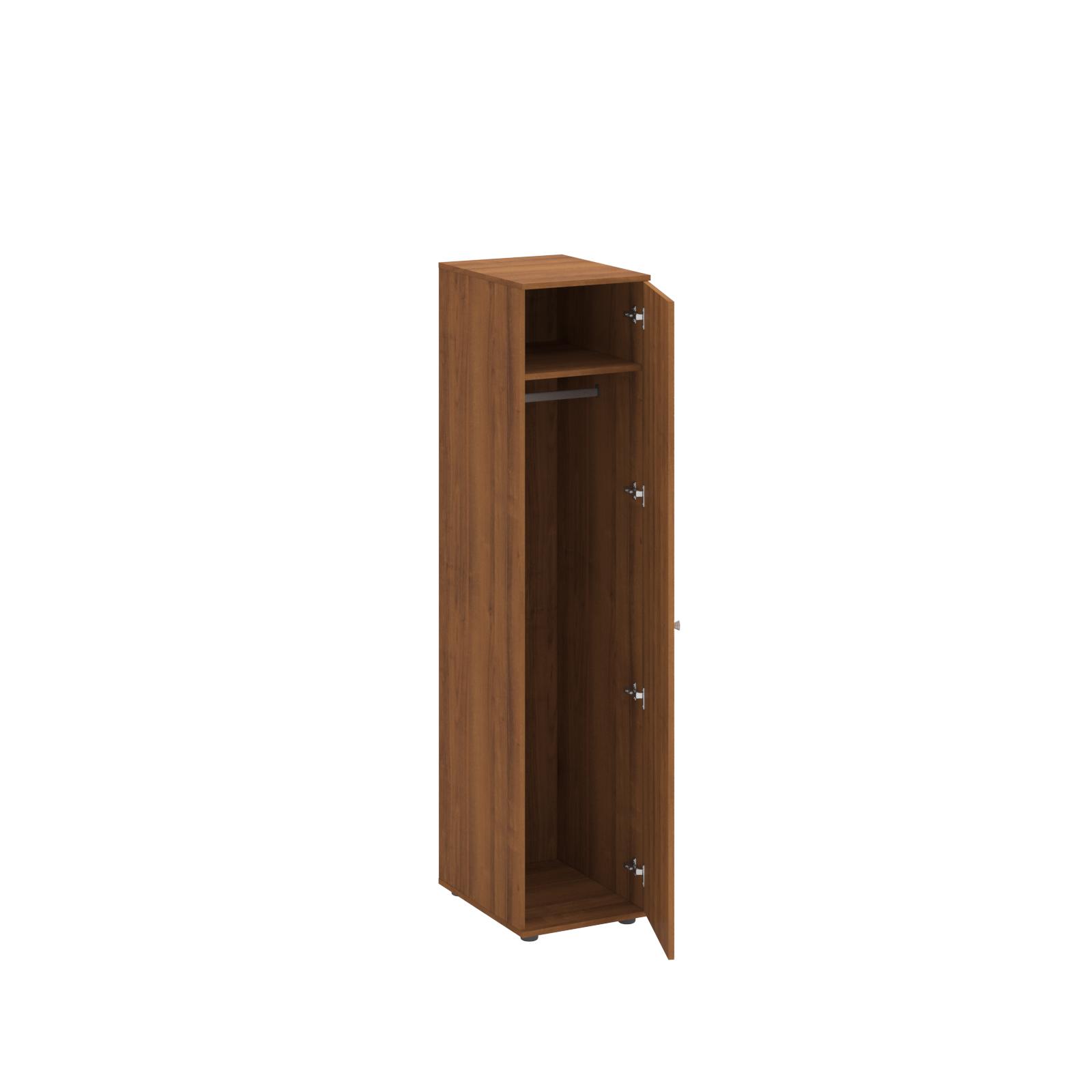 Шкаф для одежды одностворчатый (верхняя полка и штанга для вешалок)