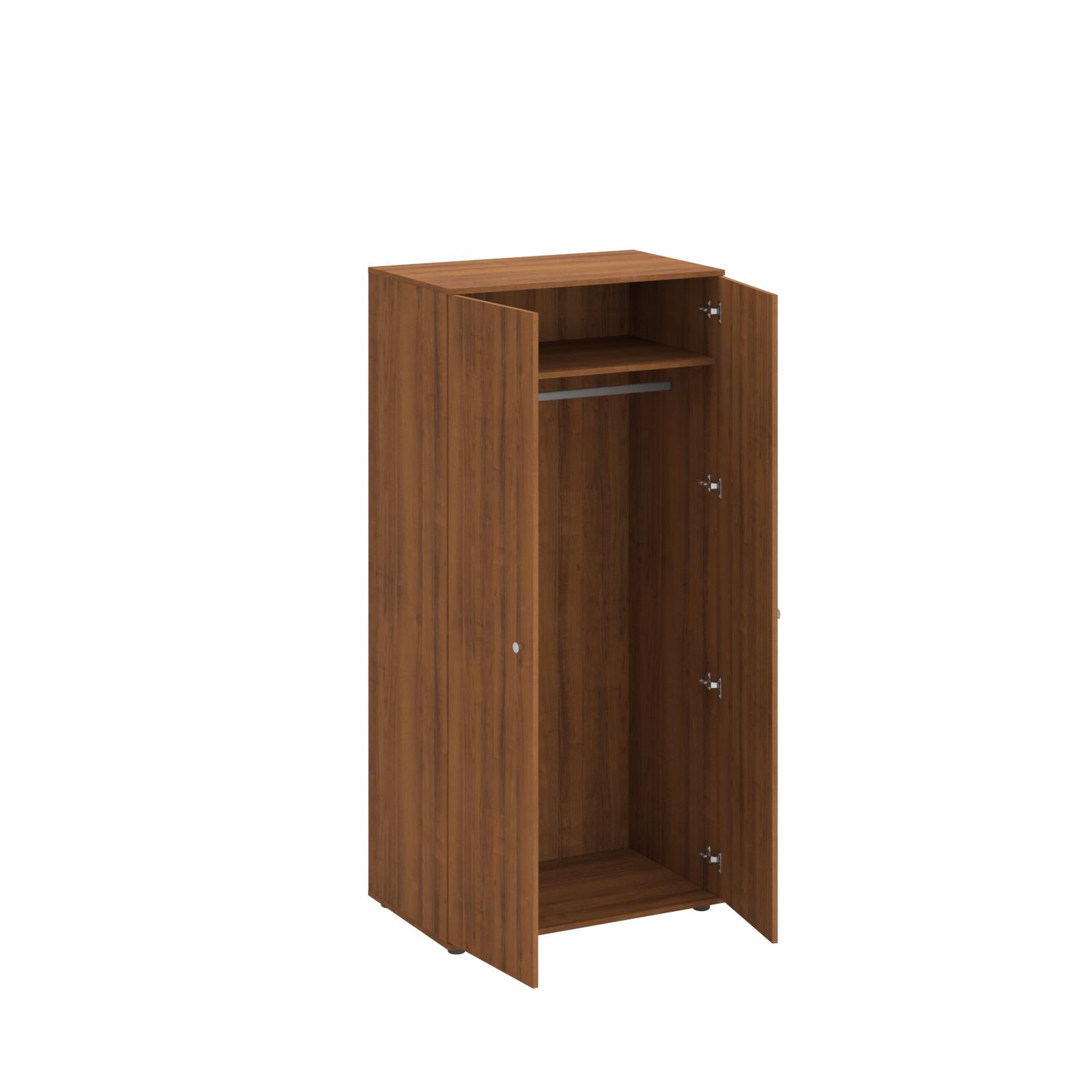 Шкаф для одежды двухстворчатый (верхняя полка и штанга для вешалок)