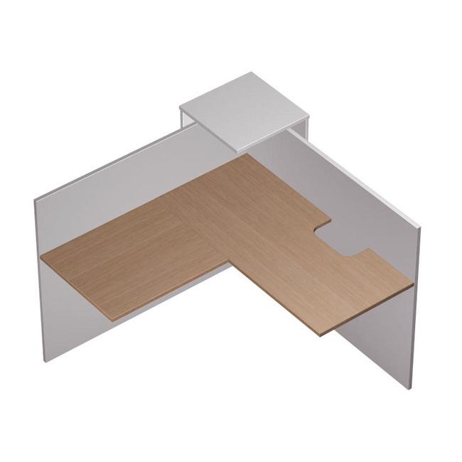 Модуль ресепшн угловой с вырезом , левый
