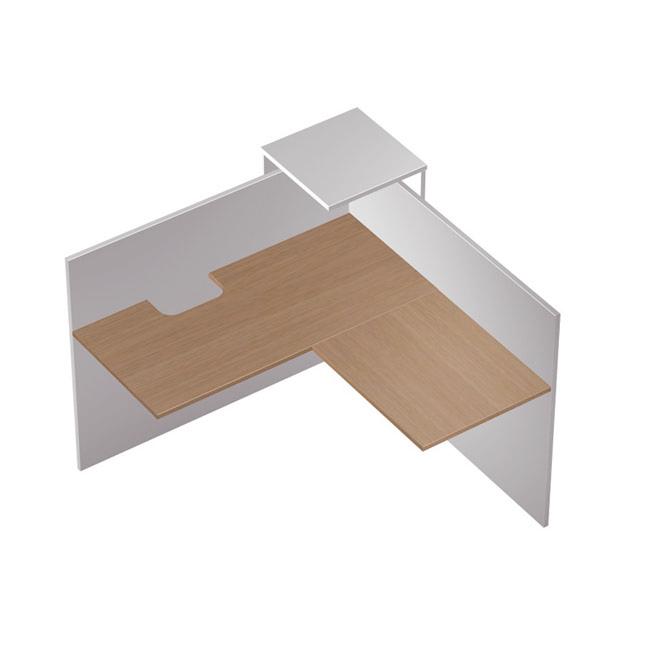 Модуль ресепшн угловой с вырезом , правый