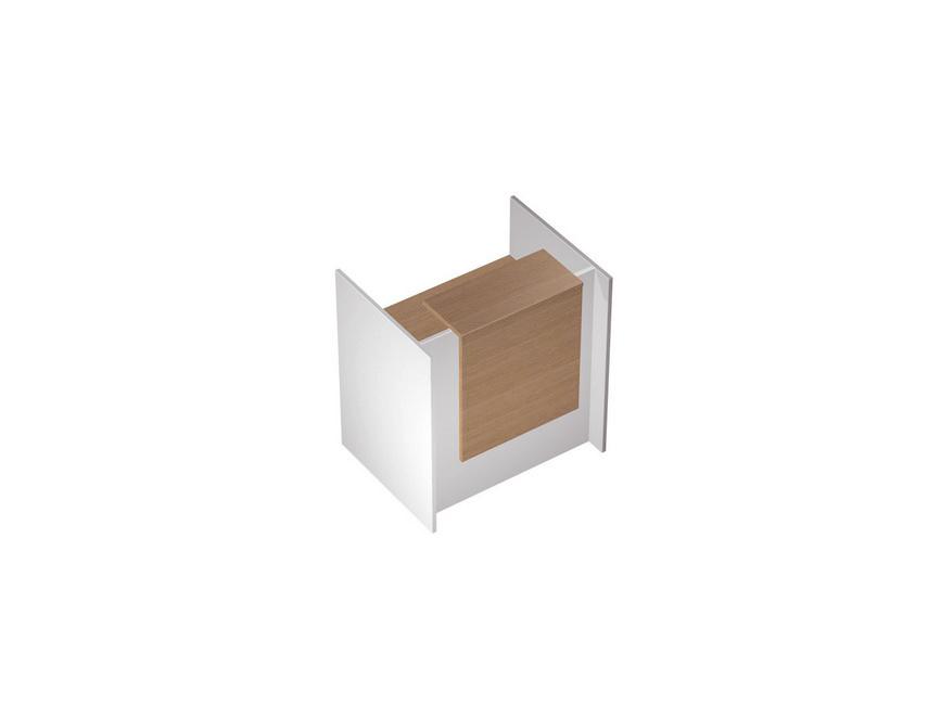 Стойка ресепшн прямая с вырезом с подсветкой (8,7 Вт)