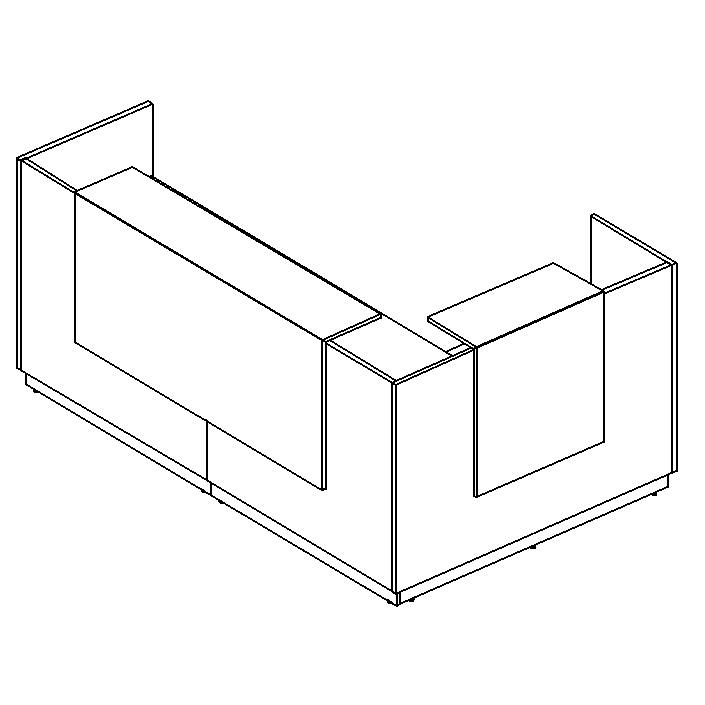 Стойка ресепшн угловая левая (полки высокие)