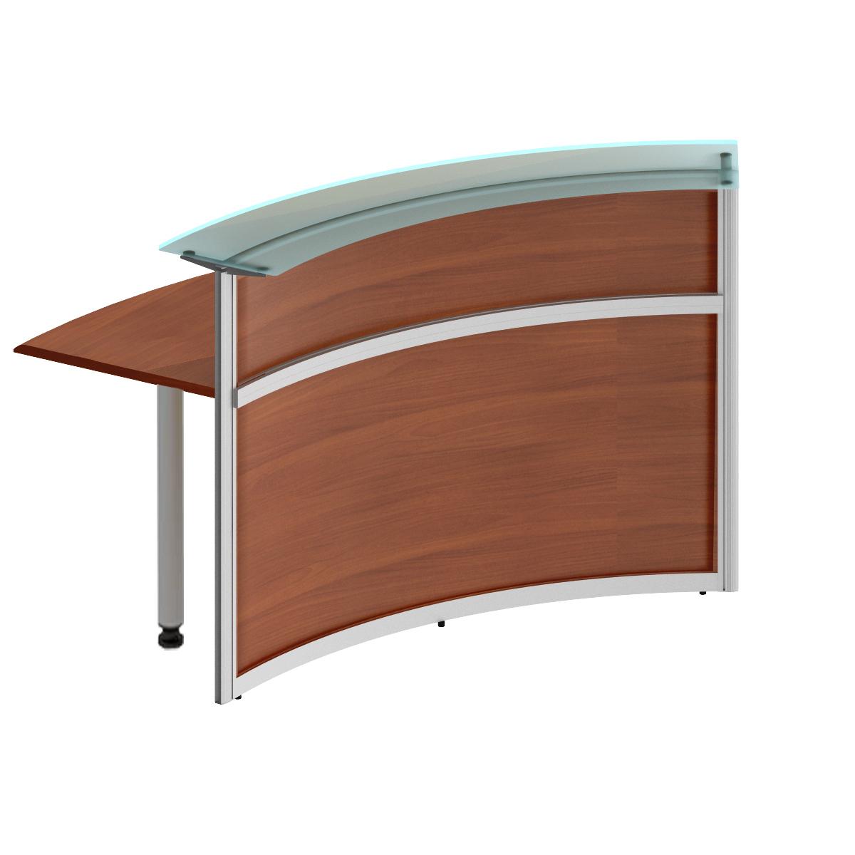 Модуль стойки ресепшн со стеклом 60 градусов изогнутой внутрь (без опор)