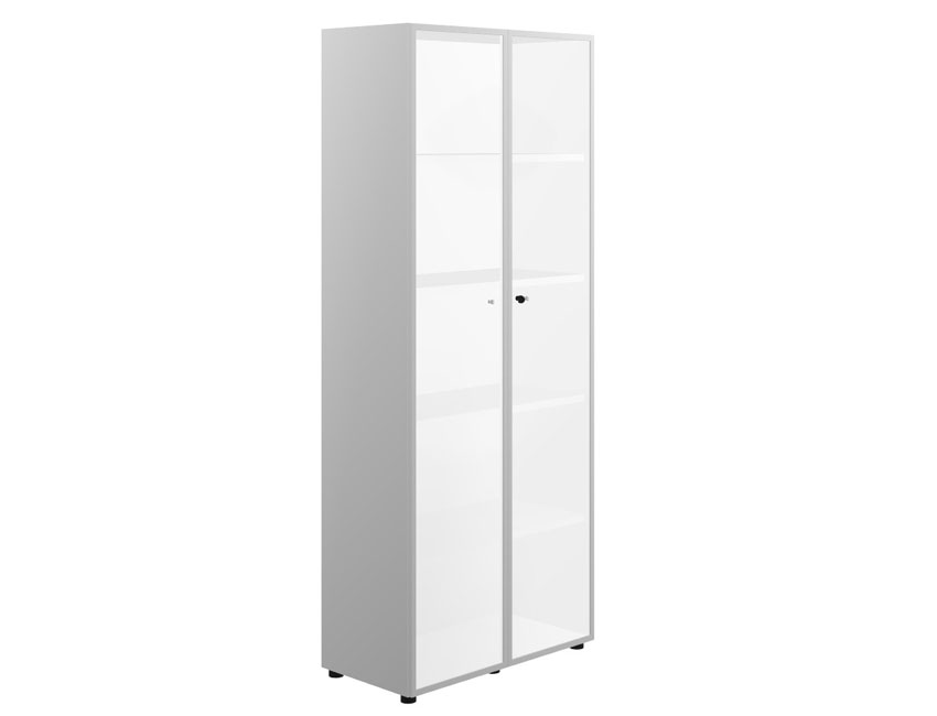 Шкаф высокий со стеклом 2-дв. (стекло мокка)