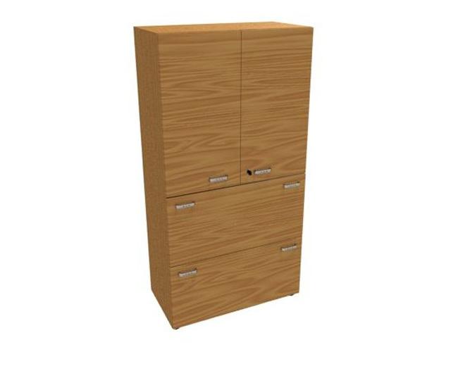 Шкаф закрытый, 2 файловых ящика