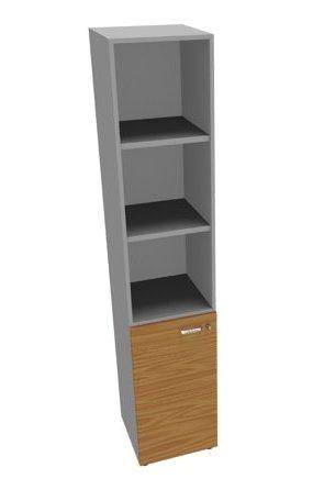 Шкаф узкий, высокий с низкой дверью