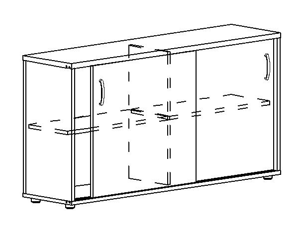 Шкаф-купе низкий (для 2-х столов 70)