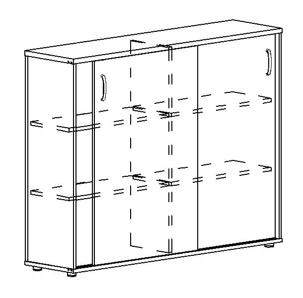 Шкаф-купе средний (для 2-х столов 70)