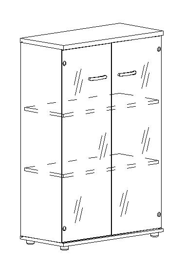 Шкаф средний со стеклом