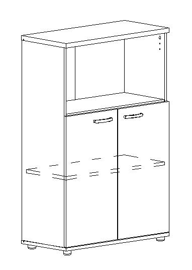 Шкаф средний полузакрытый