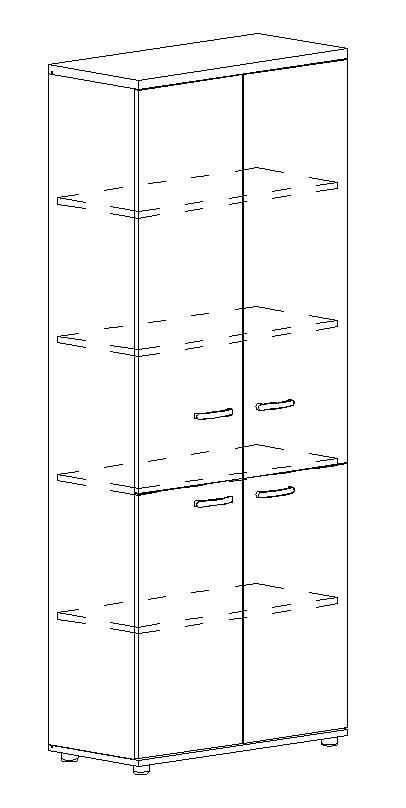 Шкаф для документов закрытый 4-х дверный