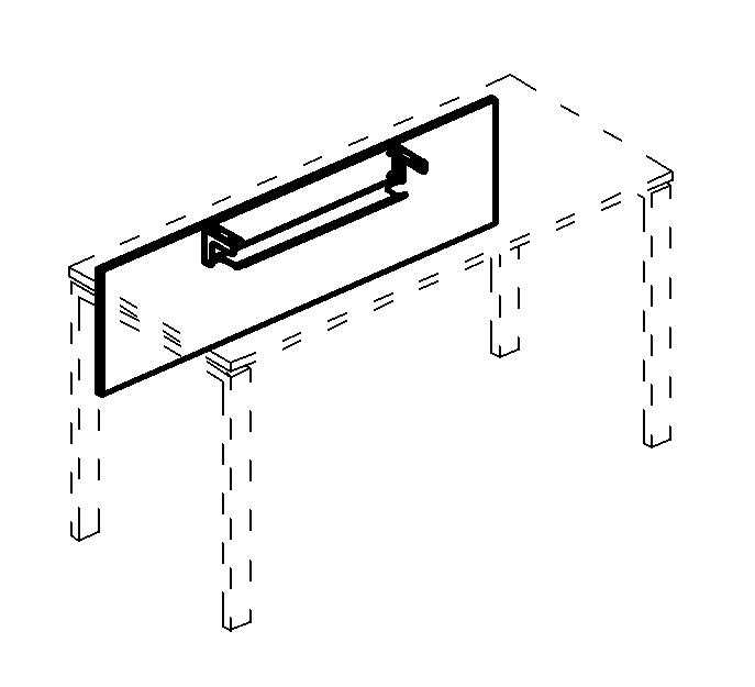 Экран стола 120 с кабель-каналом