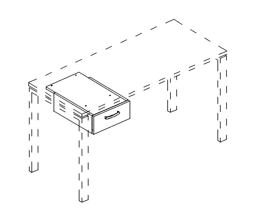Тумба подвесная 1-ящичная (для стола 80)