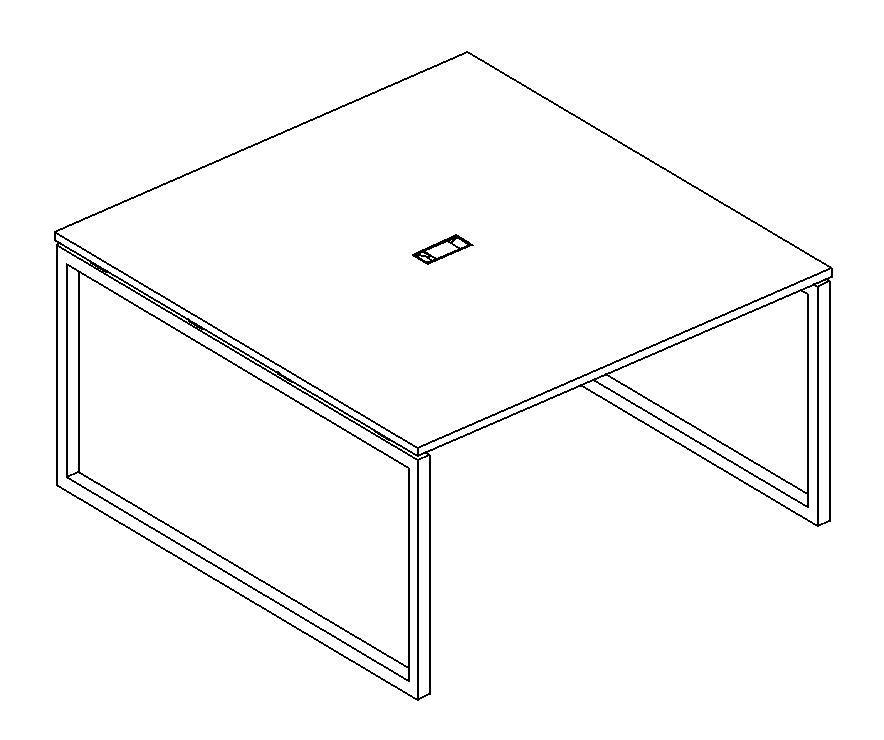 Стол для переговоров на металлокаркасе QUATTRO