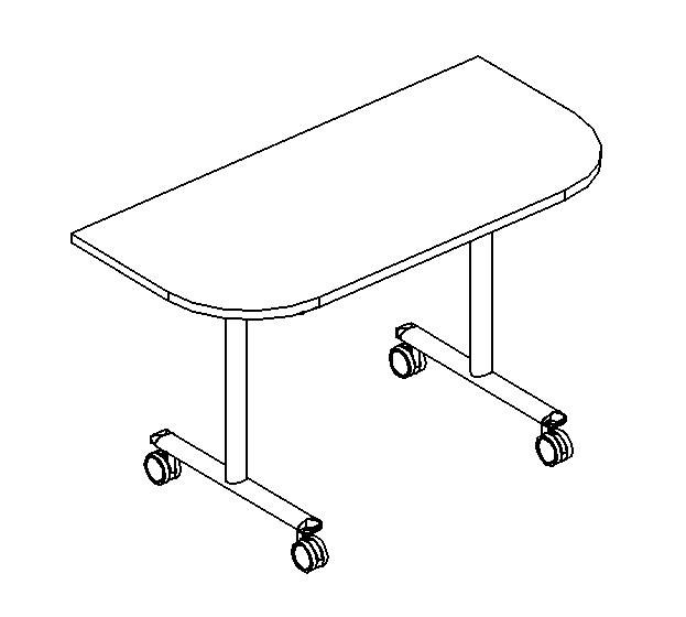 Стол приставной складной