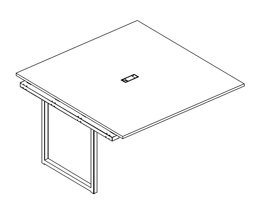 Секция стола для переговоров на металлокаркасе QUATTRO