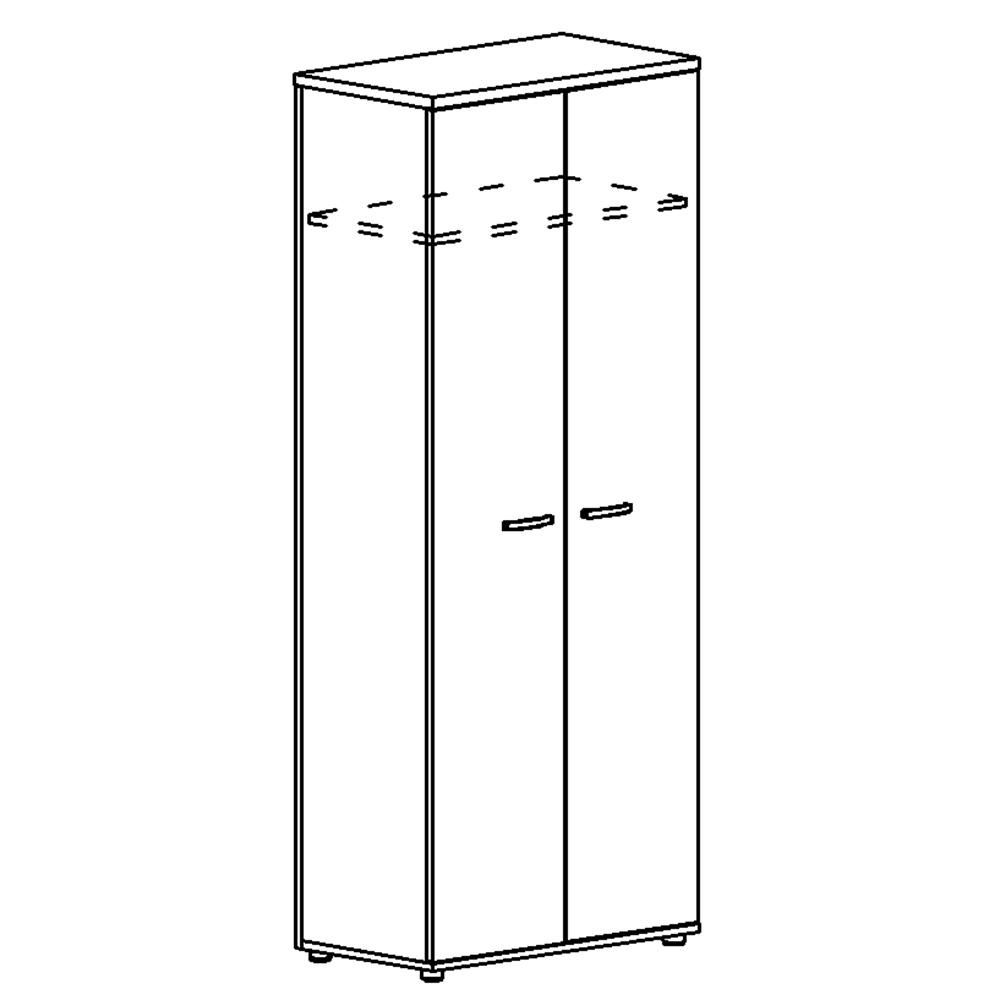 Шкаф для одежды (задняя стенка ДСП)